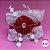 Coleira Glamu Pet Vermelha com Detalhes em Renda Dupla e Cetim - Imagem 2
