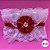 Coleira Glamu Pet Vermelha com Detalhes em Renda Dupla e Cetim - Imagem 1