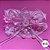 Coleira Glamu Pet Rosa com Detalhes em Renda, Pedraria e Strass - Imagem 1