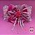 Coleira Glamu Pet Rosa com Detalhes em Cetim, Pedraria e Strass - Imagem 1