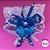 Coleira Glamu Pet Azul com Detalhes em Renda e Pedraria - Imagem 1