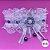 Coleira Glamu Pet Branca com Detalhes em Cetim e Pedraria - Imagem 1