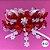 Coleira Glamu Pet Vermelha com Detalhes em Rendas e Fitas - Imagem 2