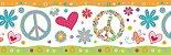 Faixa Infantil Coração Colorido - Imagem 1