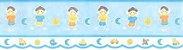 Faixa de Papel Menino Palito Azul Bobinex Bambinos 8522 - Imagem 1