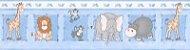 Faixa de Papel Zoo Azul Bobinex Bambinos 8503 - Imagem 1