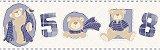 Faixa de Parede Ursos Azul Escuro Bobinex Bambinos 3211 - Imagem 1