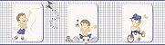 Faixa de Parede Menino Xadrez Azul e Bege Bobinex Bambinos 3203 - Imagem 1