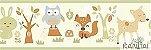Faixa Infantil Animais Coloridos Vinílico Lavável - Verde BB221003B - Imagem 1