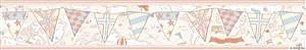 Faixa Infantil Vinílico Lavável Mapa Rosa BB220301B - Imagem 1