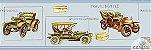Faixa Infantil Vinílico Lavável Carro antigo - Azul BB220004B - Imagem 1