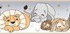 Faixa Treboli Animais Dormindo Cinza - Imagem 1