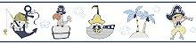 Faixa Treboli Pirata Azul e Amarelo - Imagem 1