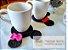 Conjunto Porta Copos Mickey & Minnie-4 pçcs - Imagem 1