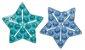 Tapete de Banho Antiderrapante Mini 6 Peças Azul - Kababy - Imagem 2