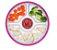 Prato Infantil Três Divisórias Branco e Rosa - Oxotot - Imagem 2