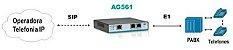 Gateway E1 VOIP Aligera AG561 - 1 porta E1(R2/ISDN) SIP G729 - Imagem 2