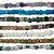 10-0003 - Fio de Pedras Coloridas Cubo com Passante 5mmx5mm - Imagem 1