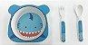 Kit Alimentação Prato e Talher Linha Eco Girotondo Baby - Tubarão - Imagem 2