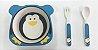 Kit Alimentação Prato e Talher Linha Eco Girotondo Baby - Pinguim - Imagem 2