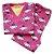 Pijama Infantil Flanelado - 4 ao 8 - Nuvens Pink - Imagem 1