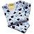 Pijama Infantil Flanelado - 4 ao 8 - Ursinho Azul - Imagem 1