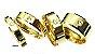 Aliança de moeda 4mm modelo reta com zircônia e lateral diamantada - Imagem 1