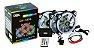 KIT 3 COOLERS RGB + FITA E PLAC CONTR DX 123L - Imagem 1