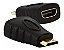 ADAPTADOR MINI HDMI M X HDMI F PIX - Imagem 1