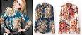 Camisa de Chiffon Floral - 2 cores - Imagem 15