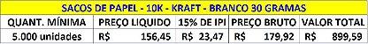 5,000 unidades - Sacos Sanfonados de 10Kg ou 20 Pães - Papel branco - Personalizado em até 2 Cores - Kraft 30  g/m² - Imagem 6