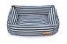 Cama Retangular Stripes Marinho - Imagem 1