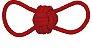 Mordedor Corda Bola Rings Vermelho - Imagem 1