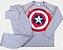 Pijama Infantil Menino Capitão América Cinza Estilo Urban - Coleção Família - Imagem 5