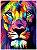 Leão moderno colorido - Imagem 1