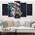Leão Desenho Colorido - Quadro Mosaico 5 Telas em Canvas - Imagem 1