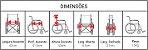 Cadeira de Rodas - capacidade até 90kg - Imagem 2