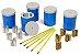Kit de Física - Conjunto de Calorímetros com termômetros e Corpos de Prova - Imagem 1