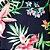 Caderno Artesanal Capa de tecido - Estampa Floral fundo azul marinho - Imagem 2