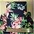 Caderno Artesanal Capa de tecido - Estampa Floral fundo azul marinho - Imagem 3