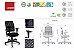 Cadeira Executiva NewNet 16003 SRE - Base Polaina - Braços SL -Certificada NR17- NBR 13962 Cavaletti - Imagem 3
