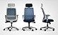 Cadeira Presidente Vélo 42101 AC Syncron - Braços ID - Base Nylon Cinza - Rod Nylon 65 Cavaletti - Imagem 3