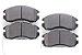Jogo Pastilhas De Freio Dianteiro Subaru Impreza 1.8 2.2 Legacy 2.2 2.5 - Imagem 1