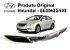Acabamento Original Da Grade Dianteira Hyundai Sonata 2.4 - Imagem 1