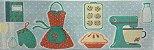 Cortina para Cozinha 2,00 x 1,20m Transfer - Culinaria 668 - Imagem 2