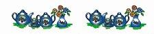 Cortina para cozinha 2,00 x 1,2m Princesa em Renda Branca - Bule Azul - Imagem 4