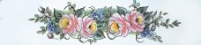 Cortina para cozinha 2,00 x 1,2m Princesa em Renda Branca - Rosas - Imagem 5
