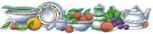 Cortina para cozinha 2,00 x 1,2m Princesa em Renda Branca - Frutas - Imagem 5