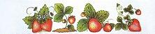 Cortina para cozinha 2,00 x 1,2m Princesa em Renda Branca - Frutas - Imagem 2