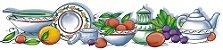 Cortina para cozinha 1,50x1,20m Princesinha em Renda Branca - Frutas - Imagem 3